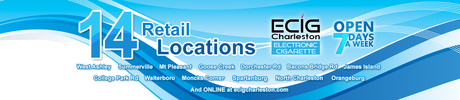 Ecig Charleston 14 - Retail Outlets!